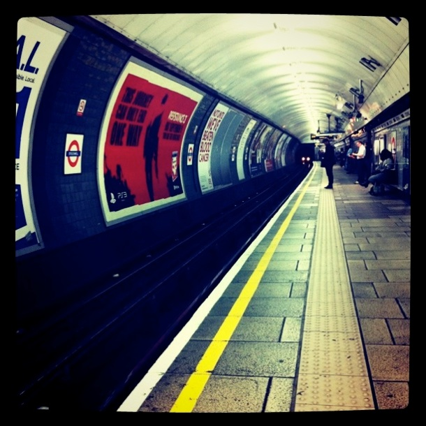 After a cramped ride on the Victoria line, I welcome the change at Stockwell.