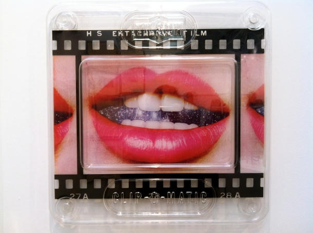'Transparency - The Five Senses - Taste' by Joe Tilson, screenprint in acrylic moulded transparency case (1969)