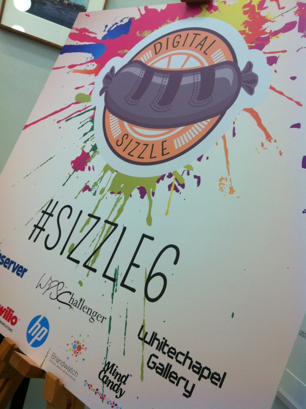 A fitting art-meets-tech logo for Sizzle 6.