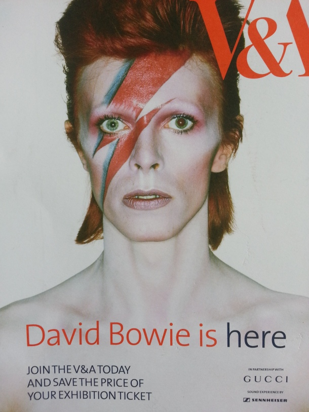 David Bowie is at the V&A.