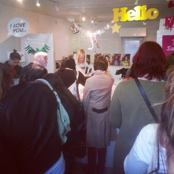 Squished like sardines at the Tatty Devine sample sale