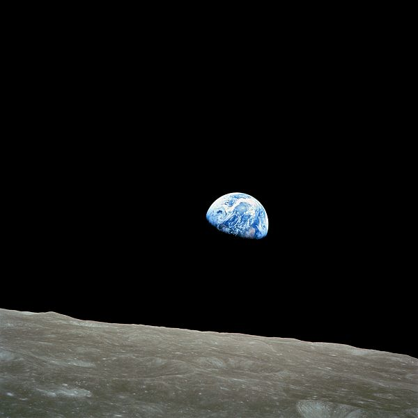 Earth from the moon by William Anders, NASA, 1968