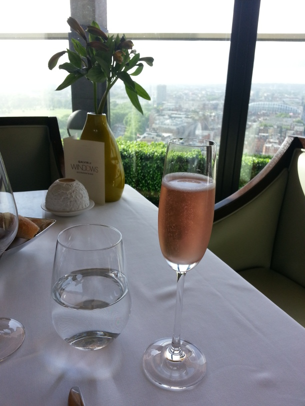 Kir Royale and the view at Galvin at Windows
