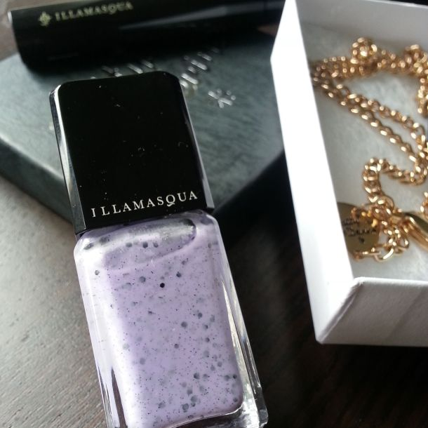 Illamasqua's speckle polish in lilac.