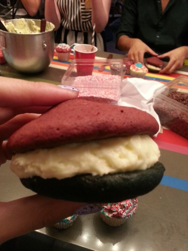 Red, white and blue whoopie pies!