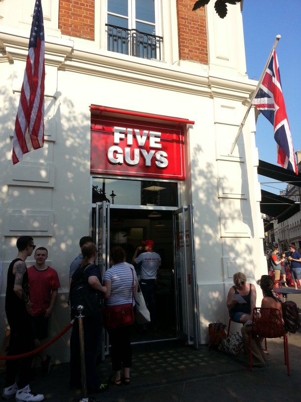 Five GUys Covent Garden