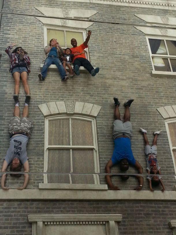 Everybody handstands!