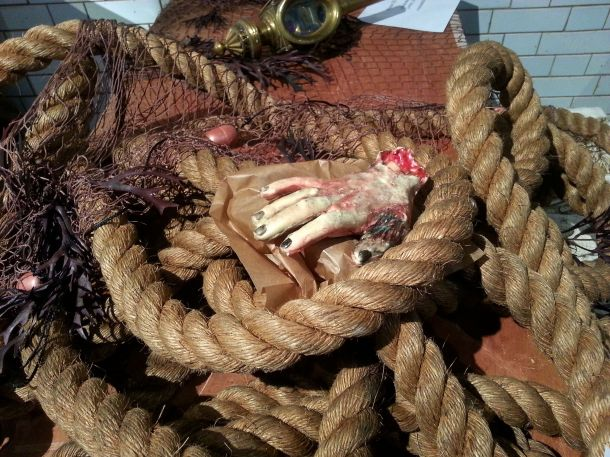 a creepy, severed hand... that's really a cake!