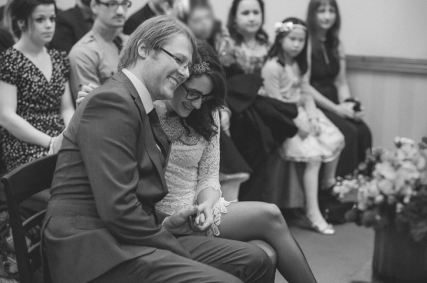 Going in for a cuddle during our ceremony - photo by Anna Pumer Photography