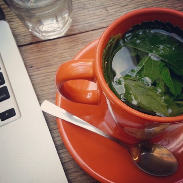 Day 7: early morning yoga, cafe breakfast, then hanging around with mint tea and working on personal things. Today rules and it's not even lunchtime yet.