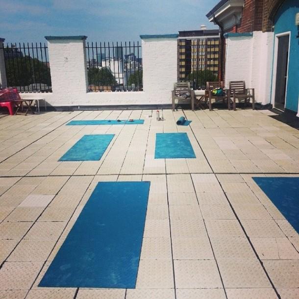 katie poole rooftop yoga