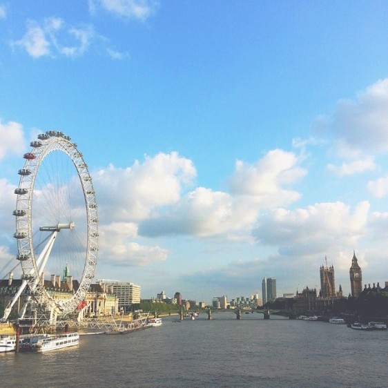 katie poole view of london eye and big ben