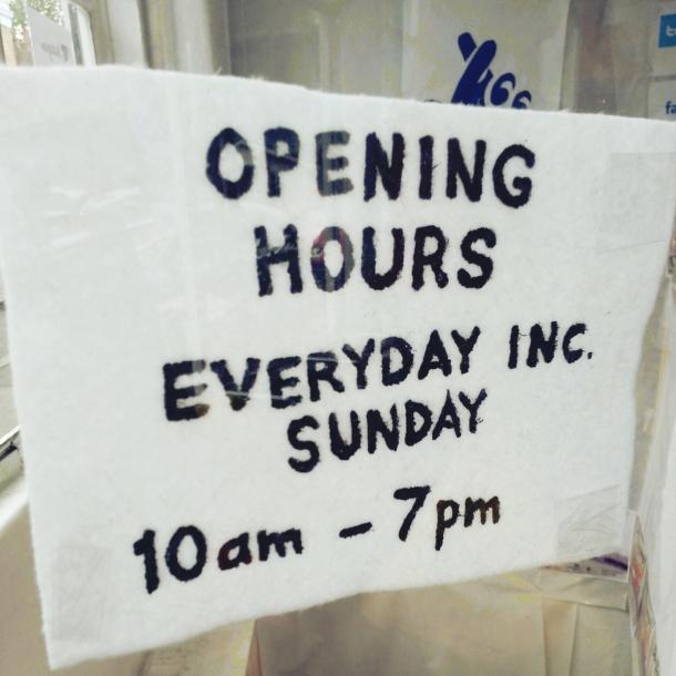 Cornershop - opening hours