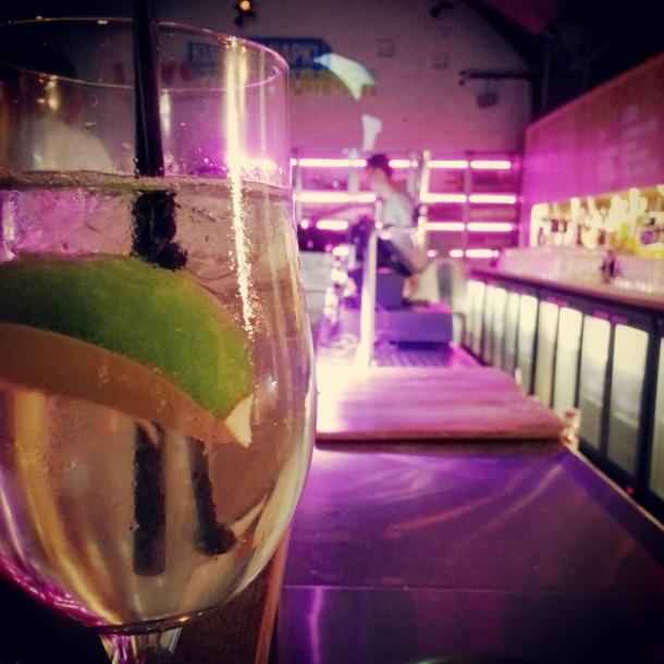 earl grey gin and tonic at topolski bar