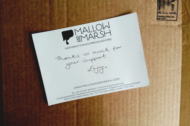 mallow and marsh note inside box