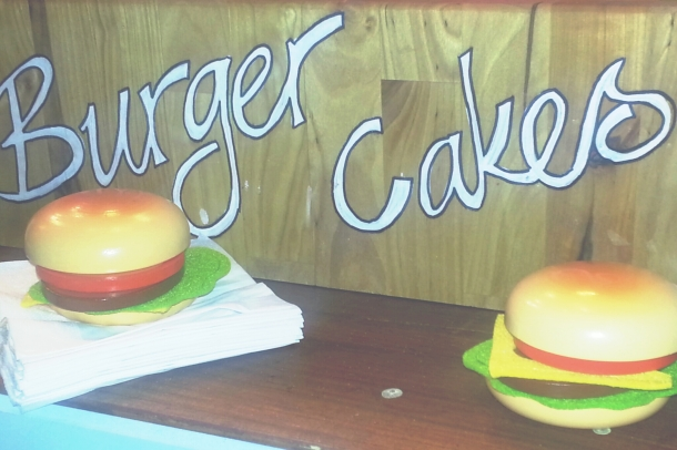 National Burger Day 2014 - Crumbs and Doilies Burger Cake Sign