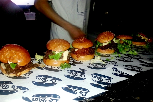 National Burger Day 2014 - Le Bun burgers in a row