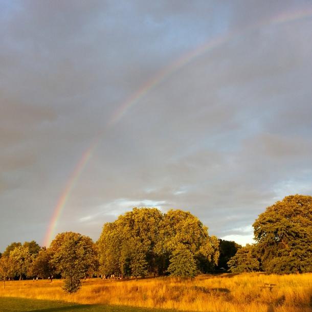 rainbow over regents park