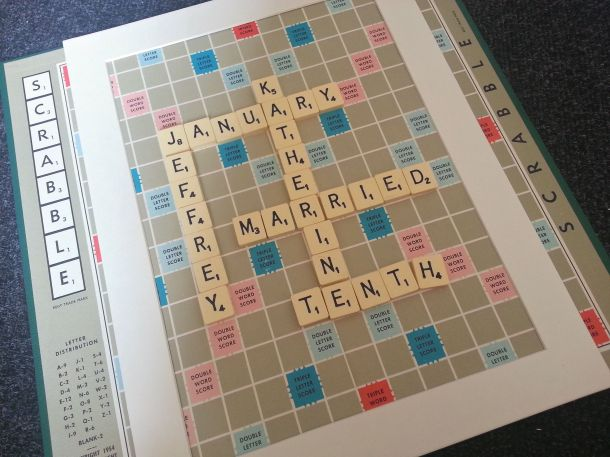 DIY Personalised Scrabble Wall Art 1