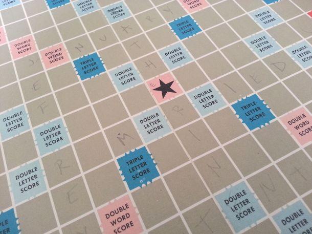 DIY Personalised Scrabble Wall Art 2