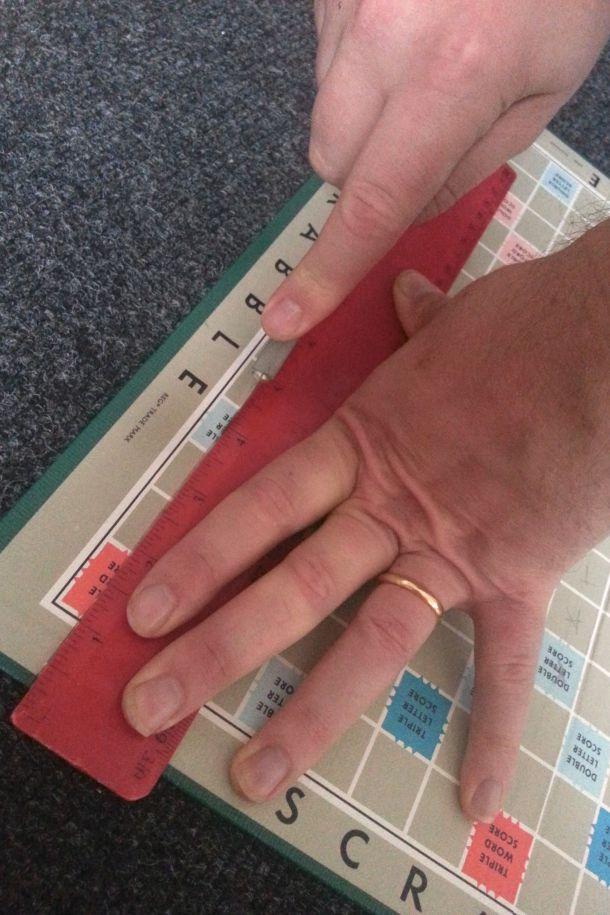 DIY Personalised Scrabble Wall Art 7
