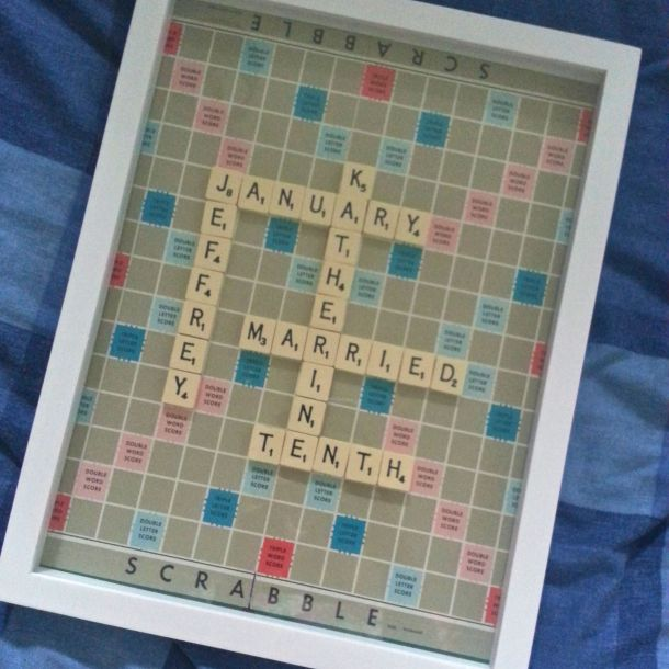 DIY Personalised Scrabble Wall Art 9