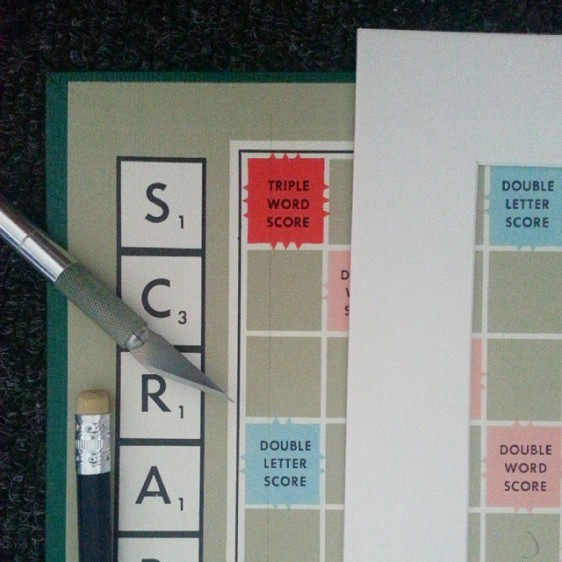 Personalised Scrabble Wall Art Planning