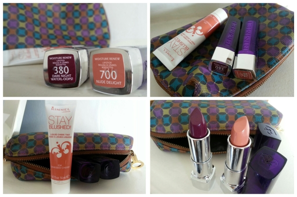Rimmel London Moisture Renew Lipstick and Stay Blushed Collage