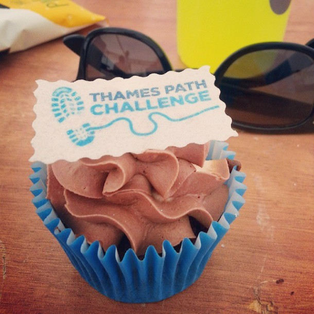Thames Path Challenge Cupcake