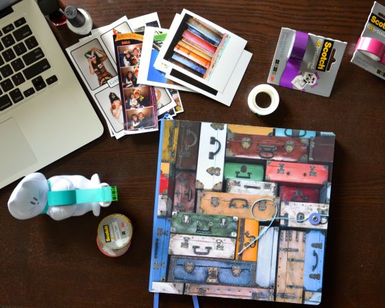 diy scrapbook with scotch 3m washi tape polagram prints and paperchase craft book 06