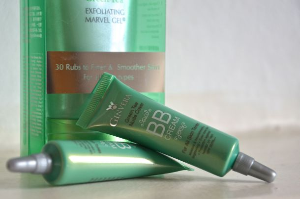 ginvera green tea exfoliating and bb cream 2