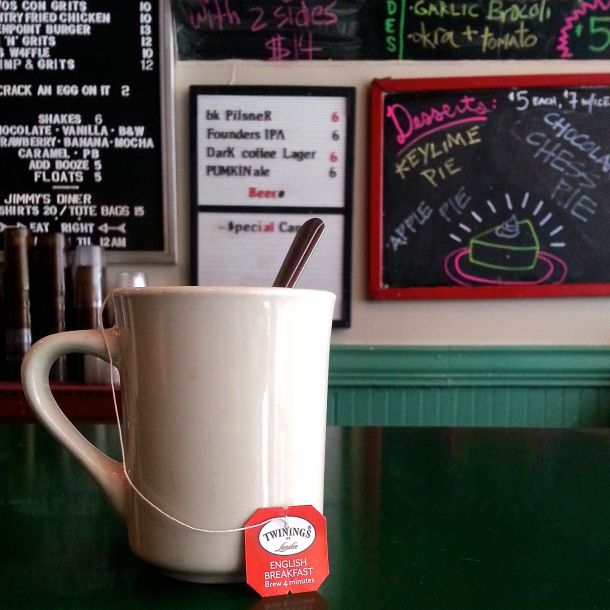nyc brooklyn jimmys diner serves twinings tea 2
