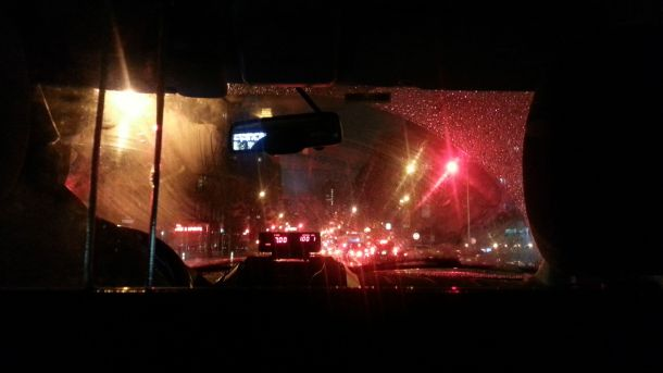 nyc taxi ride at night