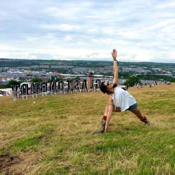 yoga at glastonbury
