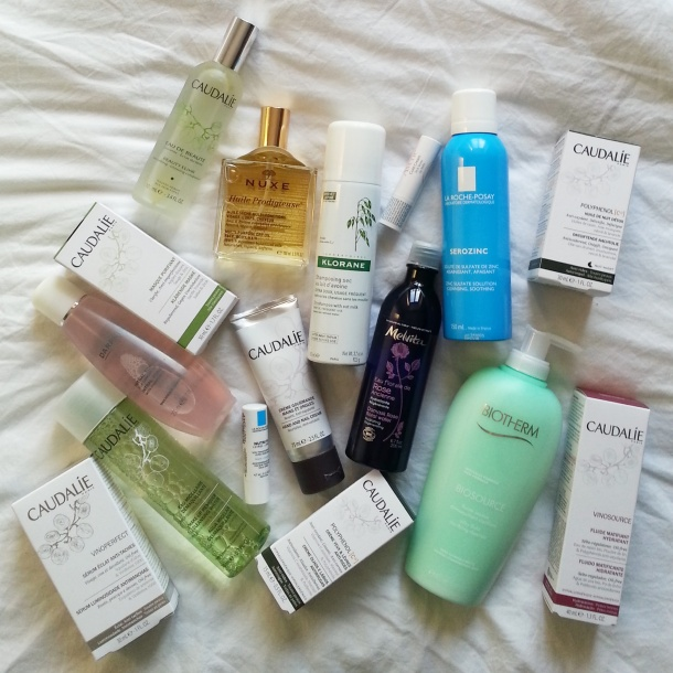 Call Me Katie's beauty shopping buys from Paris, France - Caudalie, Nuxe, Darphine, La Roche Posay, Klorane, Biotherm, Avene & Melvita