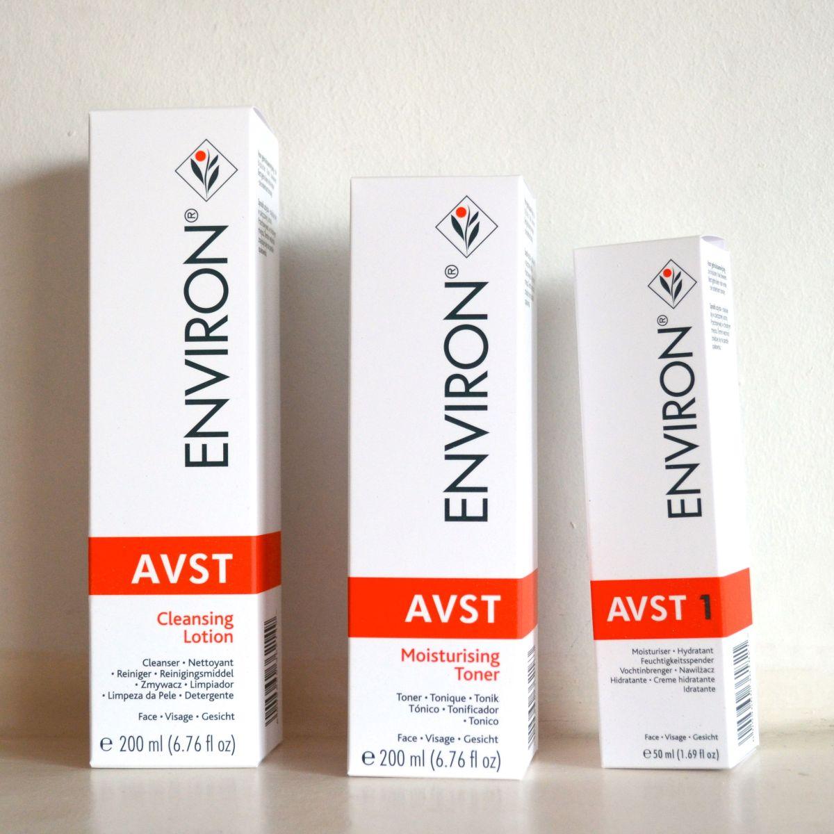Review: Environ AVST Cleansing Lotion, Moisturising Toner & Moisturiser