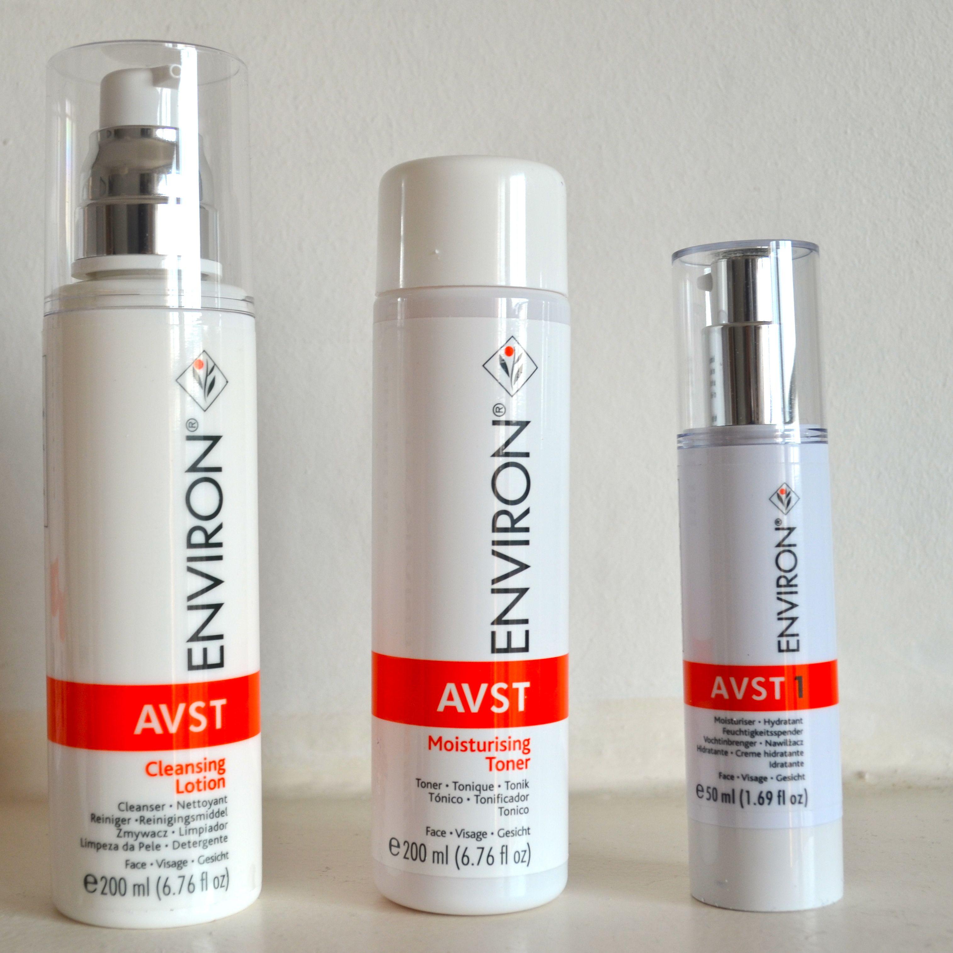 Environ Skin Care: Review: Environ AVST Cleansing Lotion, Moisturising Toner