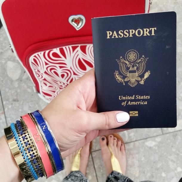 Passport in hand