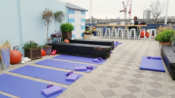 Triyoga on the roof at Selfridges