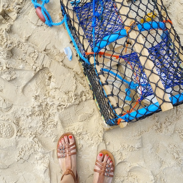 5. Camden Beach - FWIS with a lobster trap