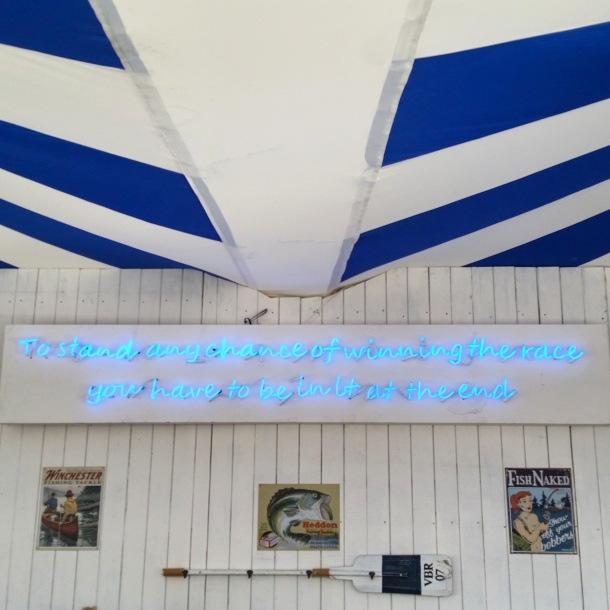 6. Camden Beach - Neon sign at the fish and chip shop