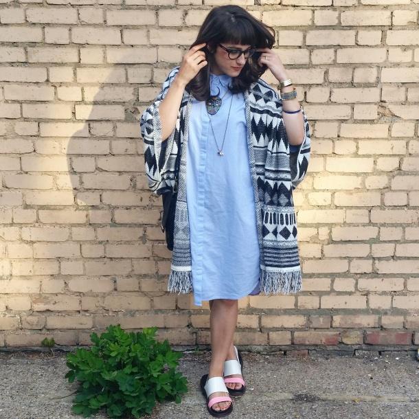 callmekatie - monki chambray shirt dress 1