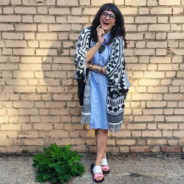 callmekatie - monki chambray shirt dress 3