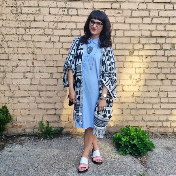 callmekatie - monki chambray shirt dress 4