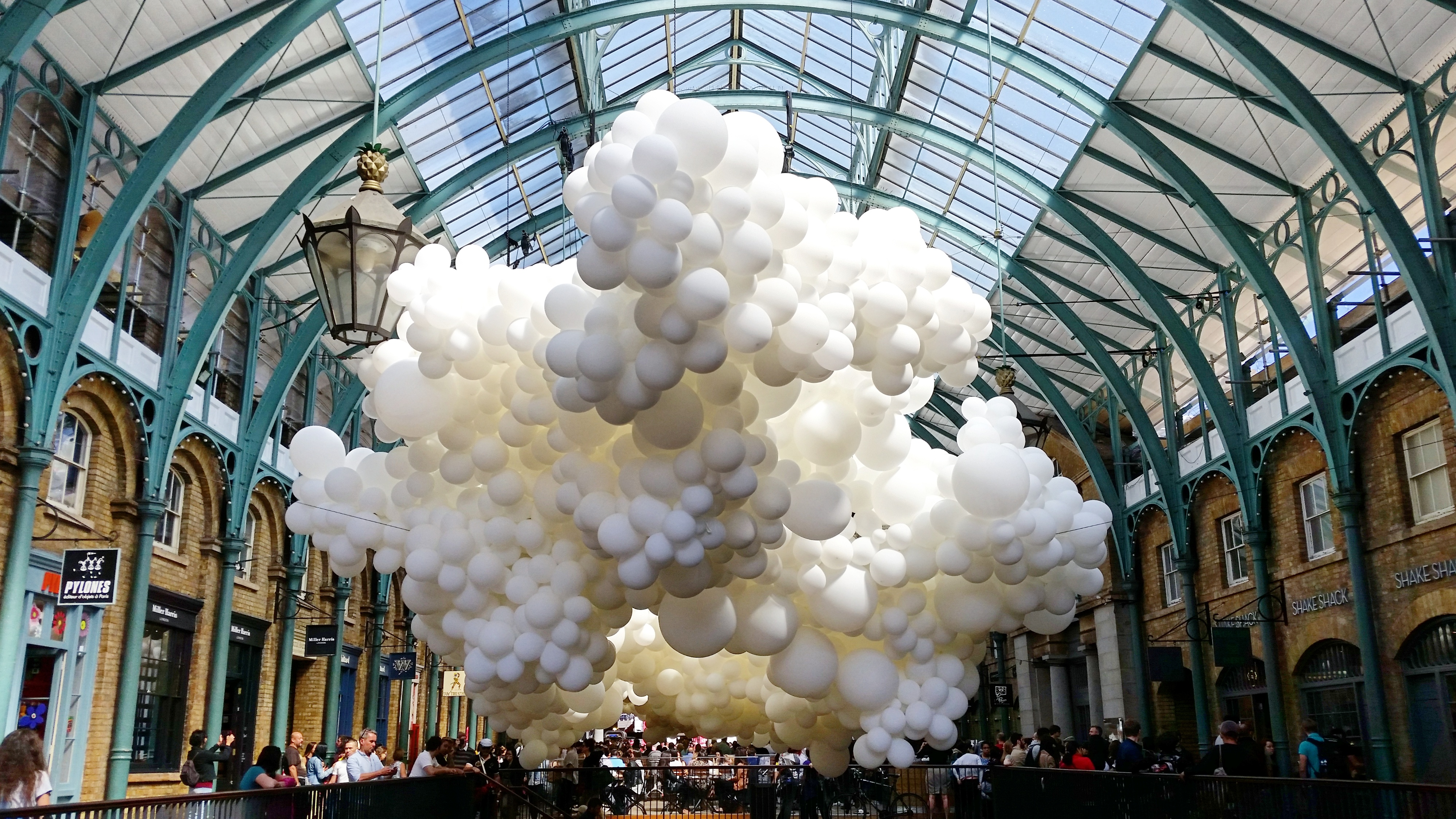 charles pc3a9tillons heartbeat featuring balloons at covent garden london 1