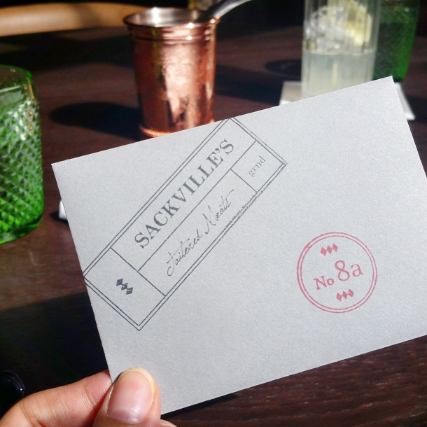 Review - lunch at Sackvilles Mayfair 16