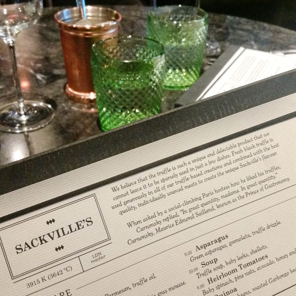 Review - lunch at Sackvilles Mayfair 6
