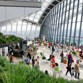 Playing at The SkyGarden