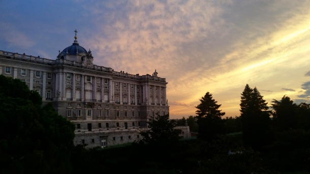 16 Sunset over the Royal Palace Madrid