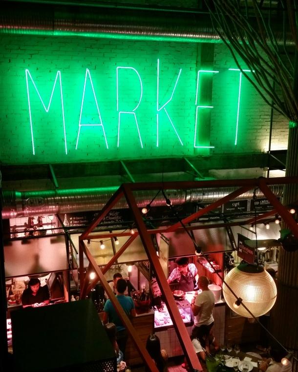 19 Neon Market sign at Mercado de san Ildefonso
